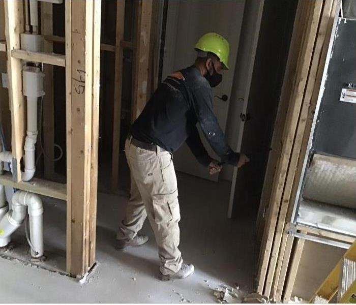 technician working on construction work